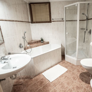 Bathroom apartment 1 apartments Bergfrieden