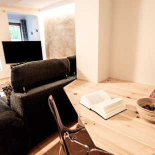 Reading corner apartment 1 apartments Bergfrieden